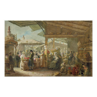 Old Covent Garden Market, 1825 Poster