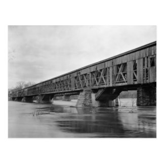 Old Covered Bridge in Massachusetts Postcard