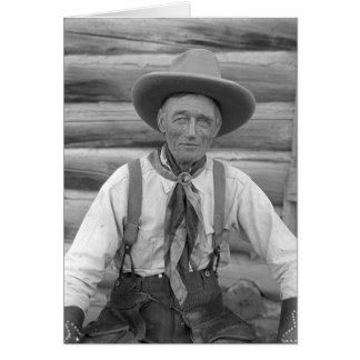 Old cowboy greeting cards