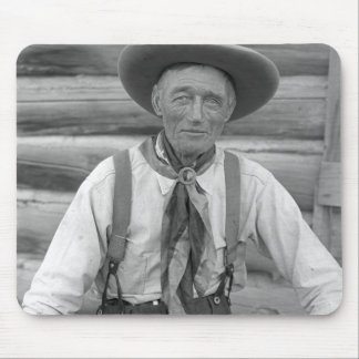 Old cowboy mouse pad