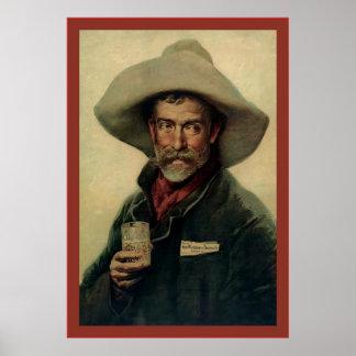 Old Cowboy ~ Vintage Beer Advertising Poster