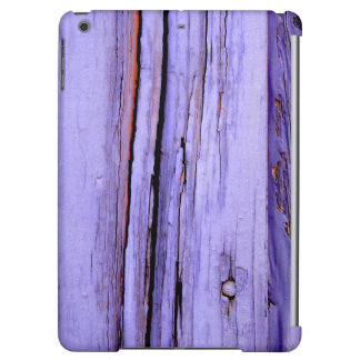 Old cracked purple paint on wood iPad air cover
