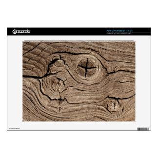 Old Cracked Wood Acer Chromebook Skins
