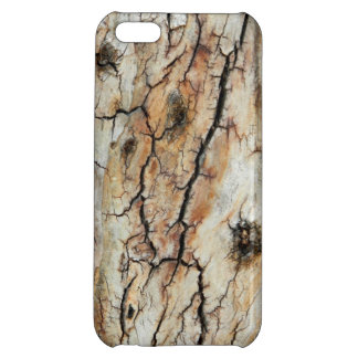 Old cracked wood natural tree bark picture case for iPhone 5C