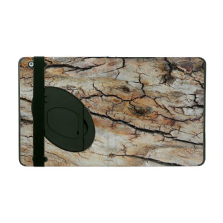 Old cracked wood natural tree bark picture iPad case