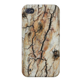 Old cracked wood natural tree bark picture iPhone 4 covers