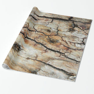 Old cracked wood natural tree bark picture wrapping paper