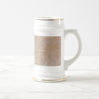 Old Cream Colored Brick Wall Beer Stein