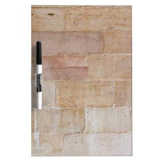 Old Cream Colored Brick Wall Dry-Erase Board