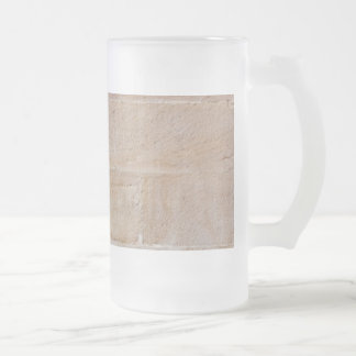 Old Cream Colored Brick Wall Frosted Glass Beer Mug