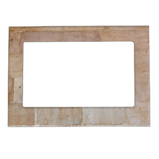 Old Cream Colored Brick Wall Magnetic Frame