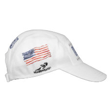 Old Creased American Flag Hat