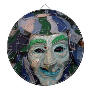 Old Creepy Carnival Mask Dart Boards