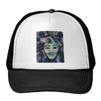 Old Creepy Carnival Mask Mesh Hat