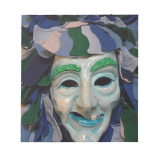 Old Creepy Carnival Mask Memo Note Pad