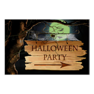 Old Creepy Halloween Party Poster