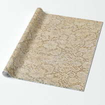 Old Crochet Lace Floral Pattern   your ideas Wrapping Paper