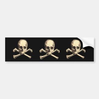 Old Cross Bones Bumper Sticker