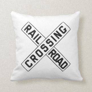 Old Crossbuck Sign Pillow