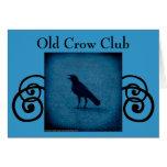 Old Crow Club invitation or greeting card