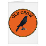old crow greeting card