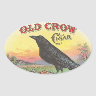 Old Crow Oval Sticker