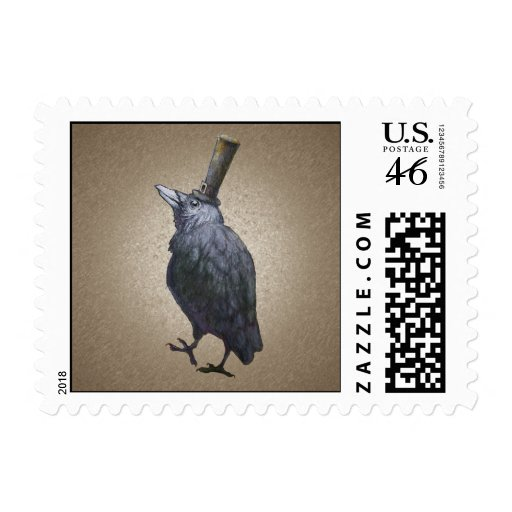 Old Crow Postage Stamp