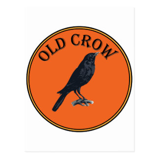 old crow postcard