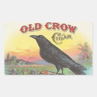 Old Crow Rectangular Sticker