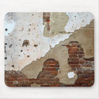 old crumbling brick wall mouse pad