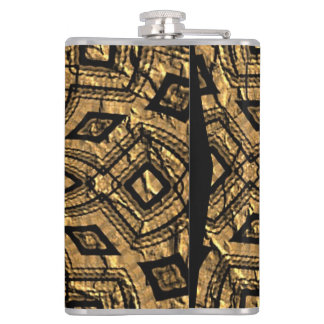 Old crumpled paper flasks