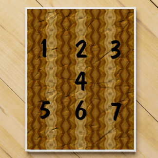 Old crumpled paper pattern countdown calendars