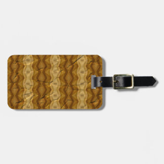 Old crumpled paper pattern luggage tag