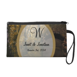 Old Crypt in Autumn Monogram Wristlet