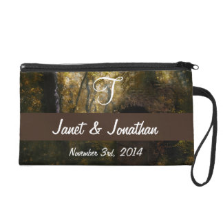 Old Crypt in Autumn Monogram Wristlet Purse