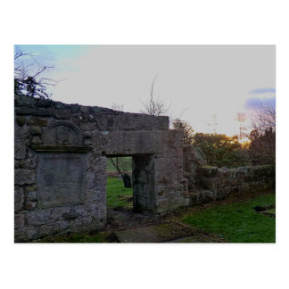 Old Culross Church Ruins: Outlander's Black Kirk Postcard