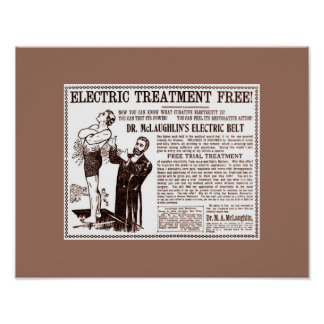 Old Cures: Dr. McLaughlin's ELECTRIC BELT Ad Poster