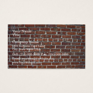 Old Damaged Brick Wall Background Business Card