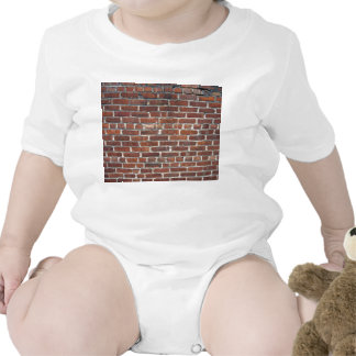 Old Damaged Brick Wall With Periodic White Lines Bodysuit