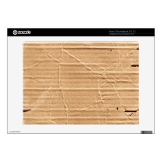 Old Damaged Brown Cardboard With Stamps And Stains Acer Chromebook Decals