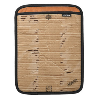Old Damaged Brown Cardboard With Stamps And Stains iPad Sleeve
