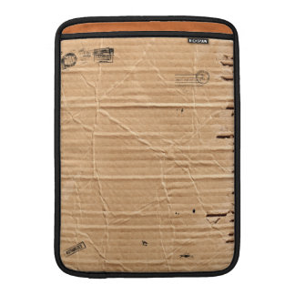Old Damaged Brown Cardboard With Stamps And Stains MacBook Air Sleeve