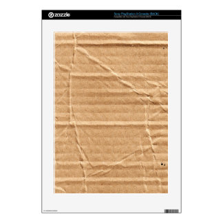 Old Damaged Brown Cardboard With Stamps And Stains PS3 Console Decals
