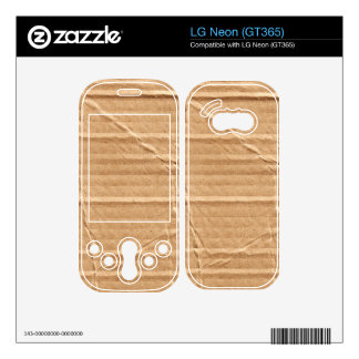 Old Damaged Brown Cardboard With Stamps And Stains Skin For LG Neon