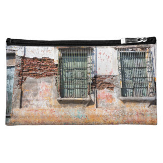 Old Damaged Building Cosmetic Bag