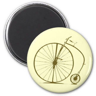 old decorative bicycle 2 inch round magnet