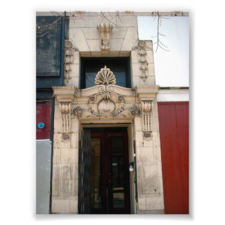Old Decorative Facade on Maroon Bldg in Buffalo NY Photo Print