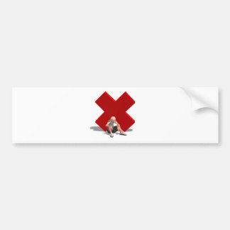 Old Defeated Man Bumper Sticker