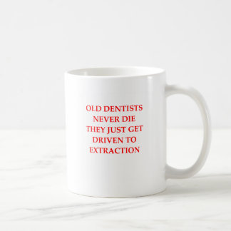 old dentists coffee mug