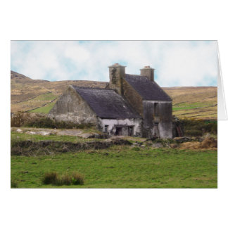 Old derelict Irish Cottage Stationery Note Card